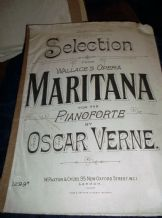 ANTIQUE SHEET MUSIC PIANO SELECTION ~ WALLACES OPERA MARITANA OSCAR VERNE 1299